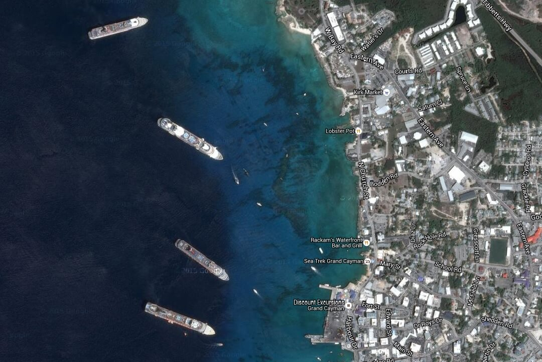 4 Cruise Ships In Port at Georgetown, Grand Cayman